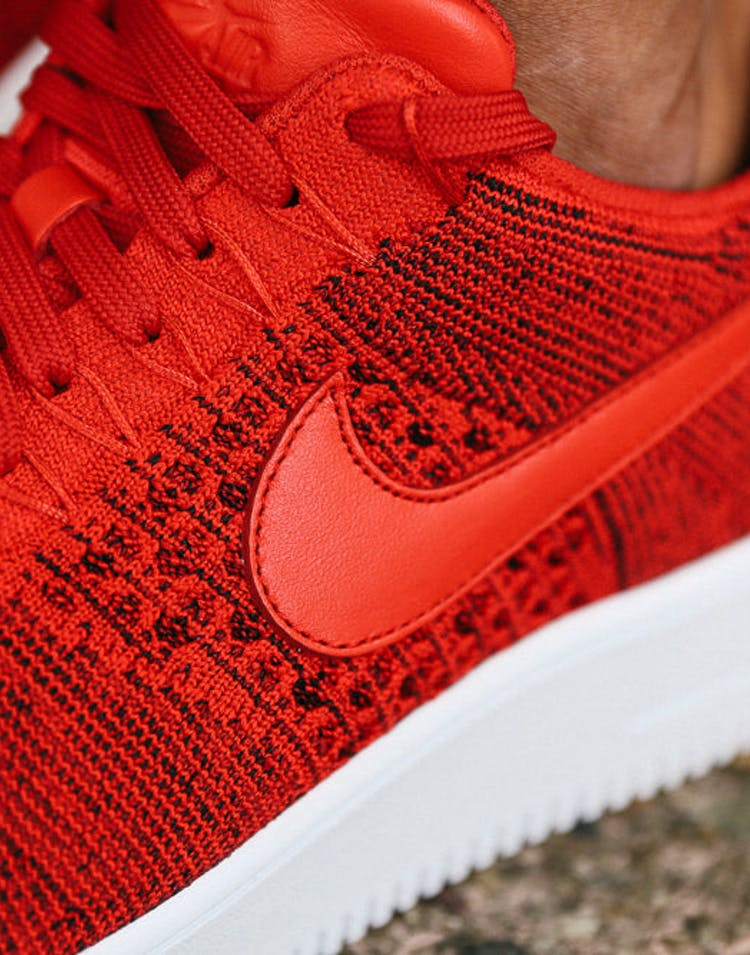 new products eb708 4dfff Air Force 1 Flyknit Low Red/red
