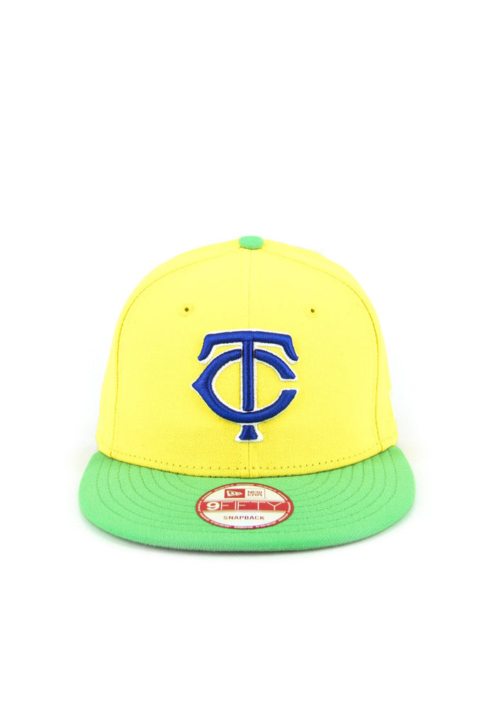 in stock ffcd6 90083 ... new zealand minnesota twins snapback yellow green quick view new era  logo 250a5 e3a13
