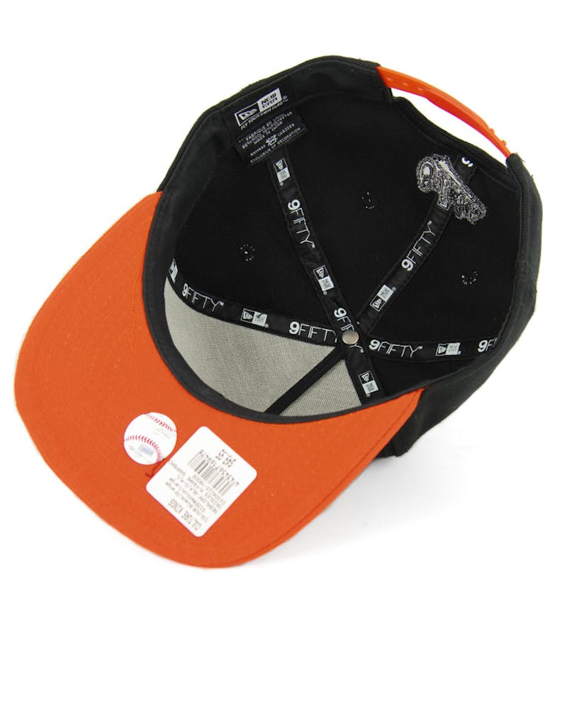 Orioles A-frame Snapback Black/Orange