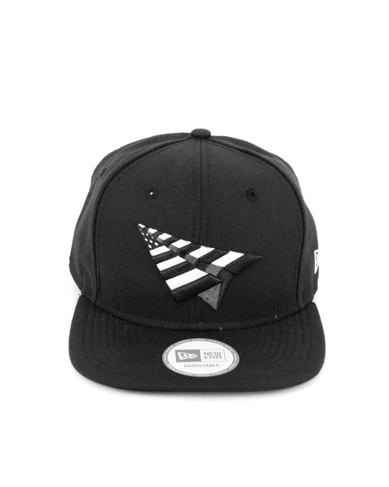 Old School Snapback Black/white