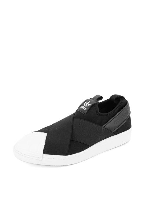adidas originals black superstar slip on sneakers nz