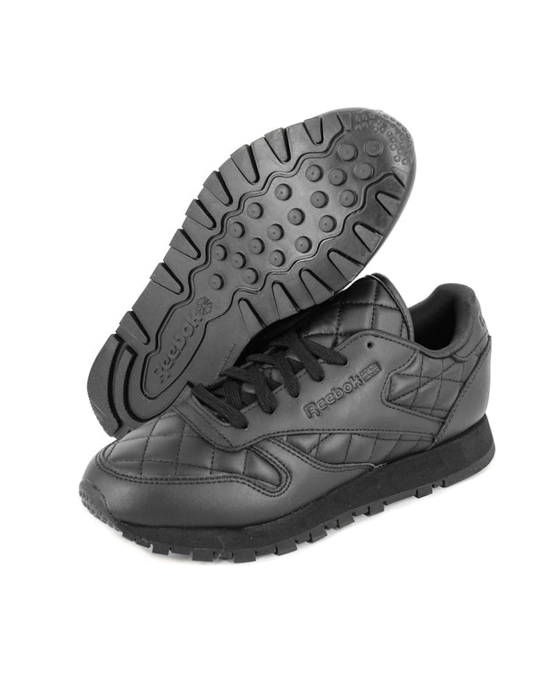 Women's CL Leather Quilted Black/white