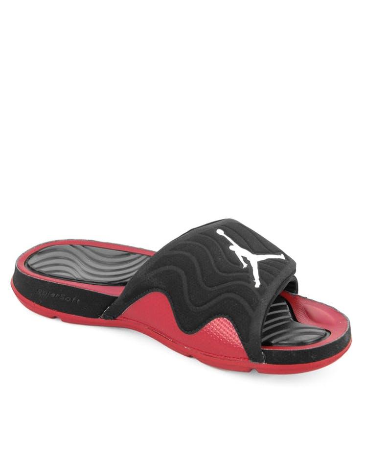 1754a945fe0a Jordan Jordan Hydro 4 Black white red – Culture Kings NZ