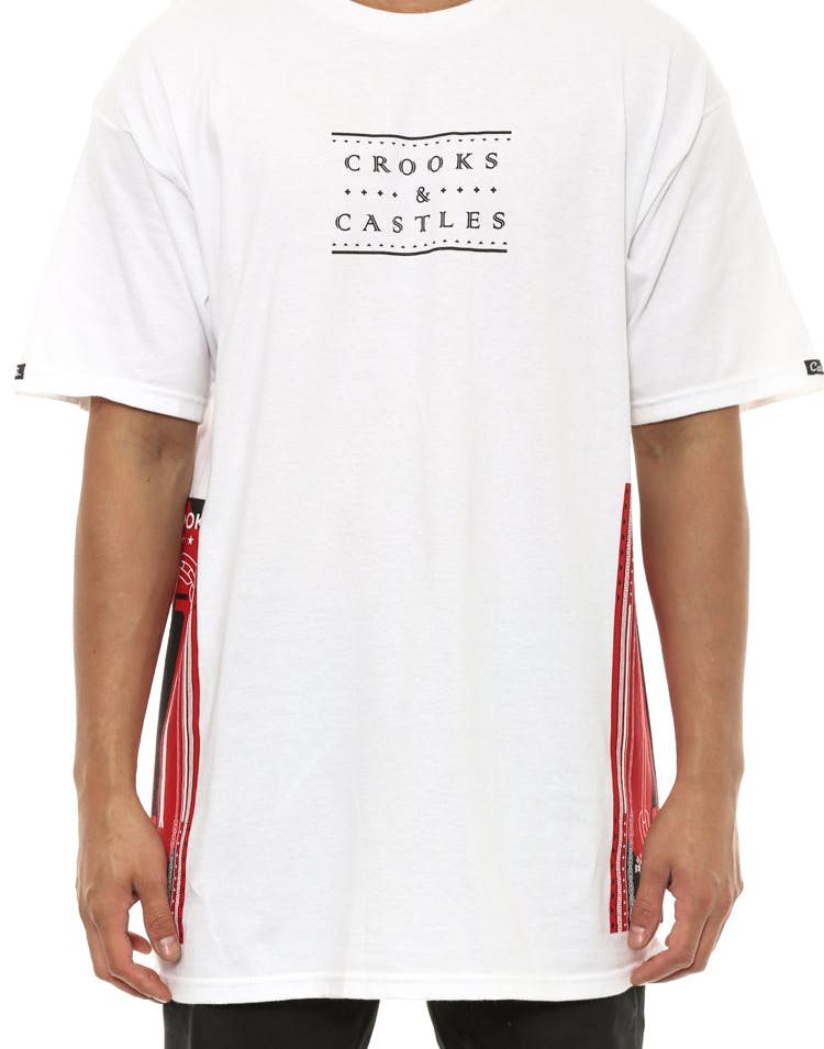 Ethnic Tech Crooks Tee White