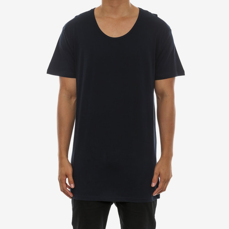 AS Colour Scoop Neck Tee Navy