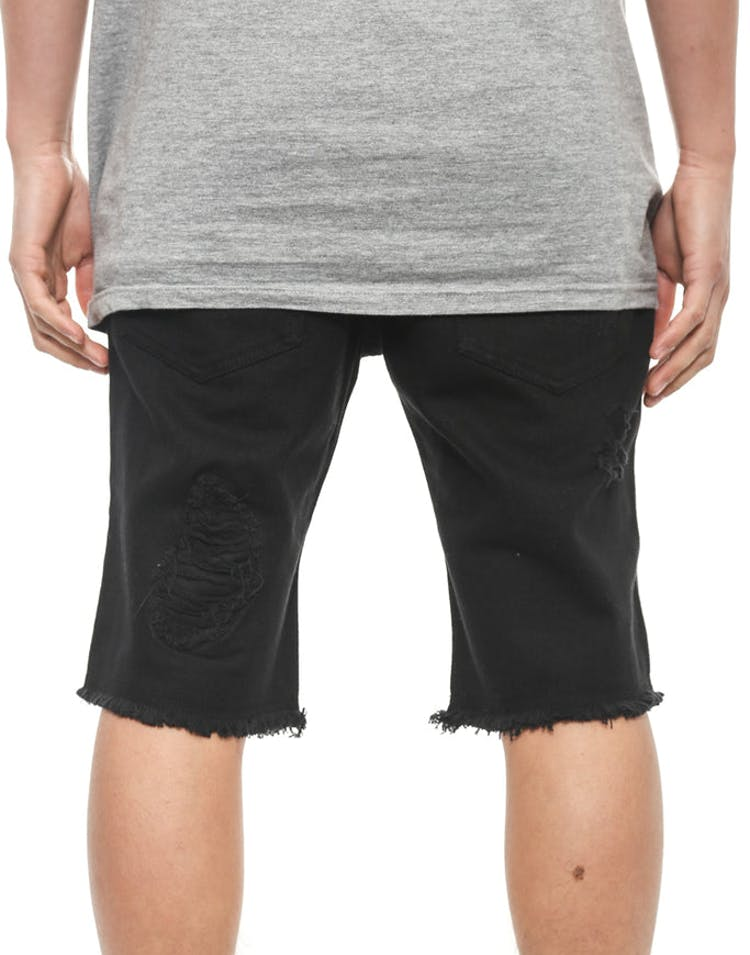 Brain Damage Denim Short Black