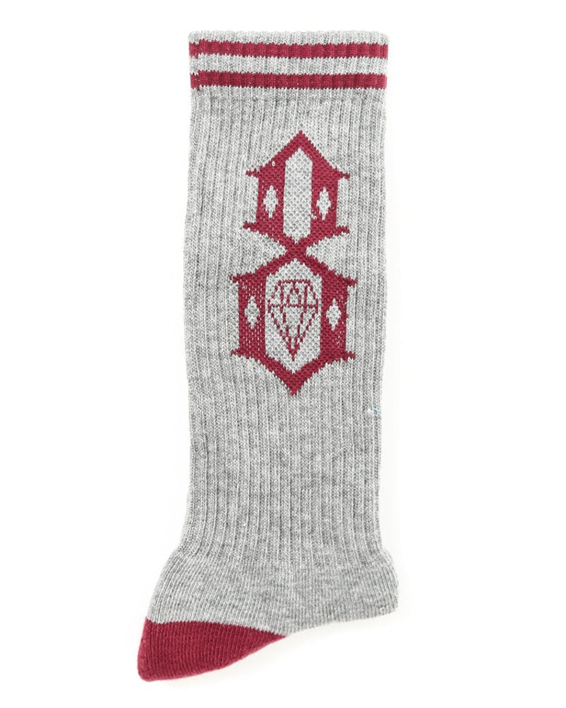 Rebel Eight Logo Sock Heather Grey/bu