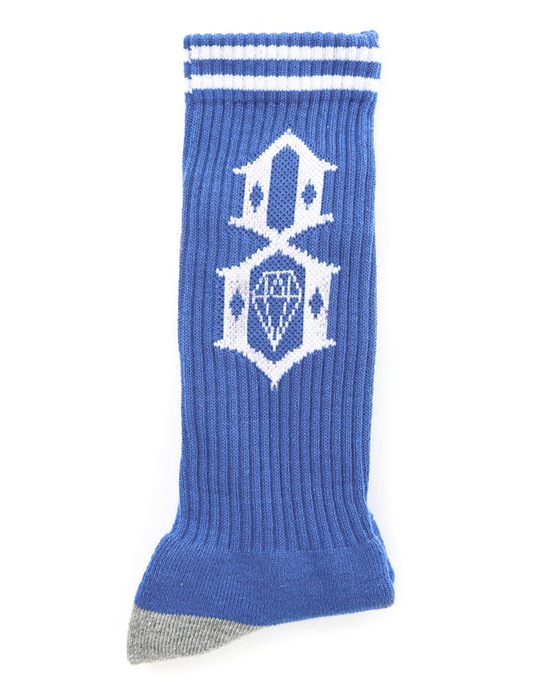 Rebel Eight Logo Sock Royal/white
