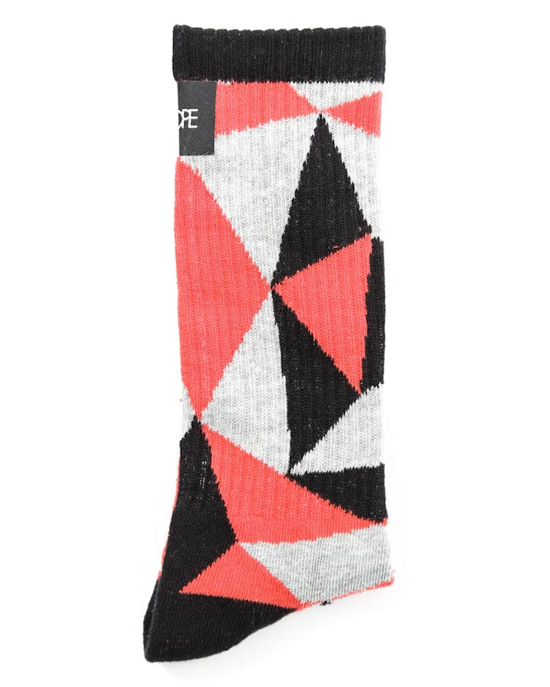 Geometric Socks Red
