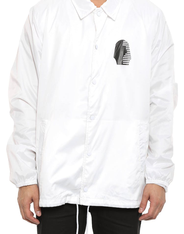 the Foundation Coach Jacket White/black
