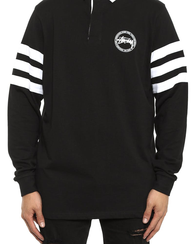 Stock Dot Long Sleeve Rugby Black