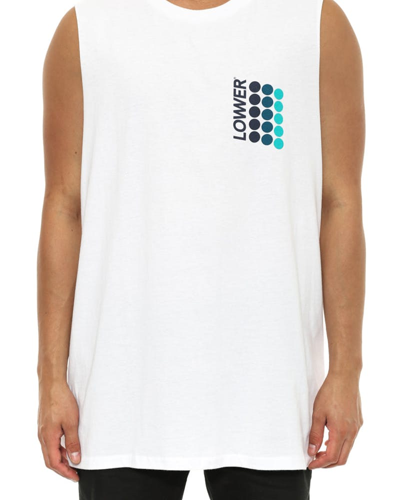Tape Cut Tank White
