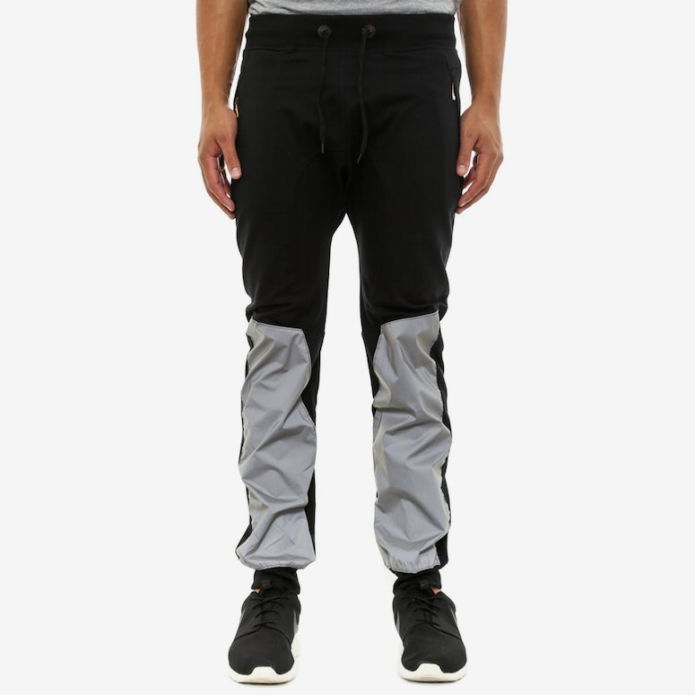 Reflective up Leg Jogger Black