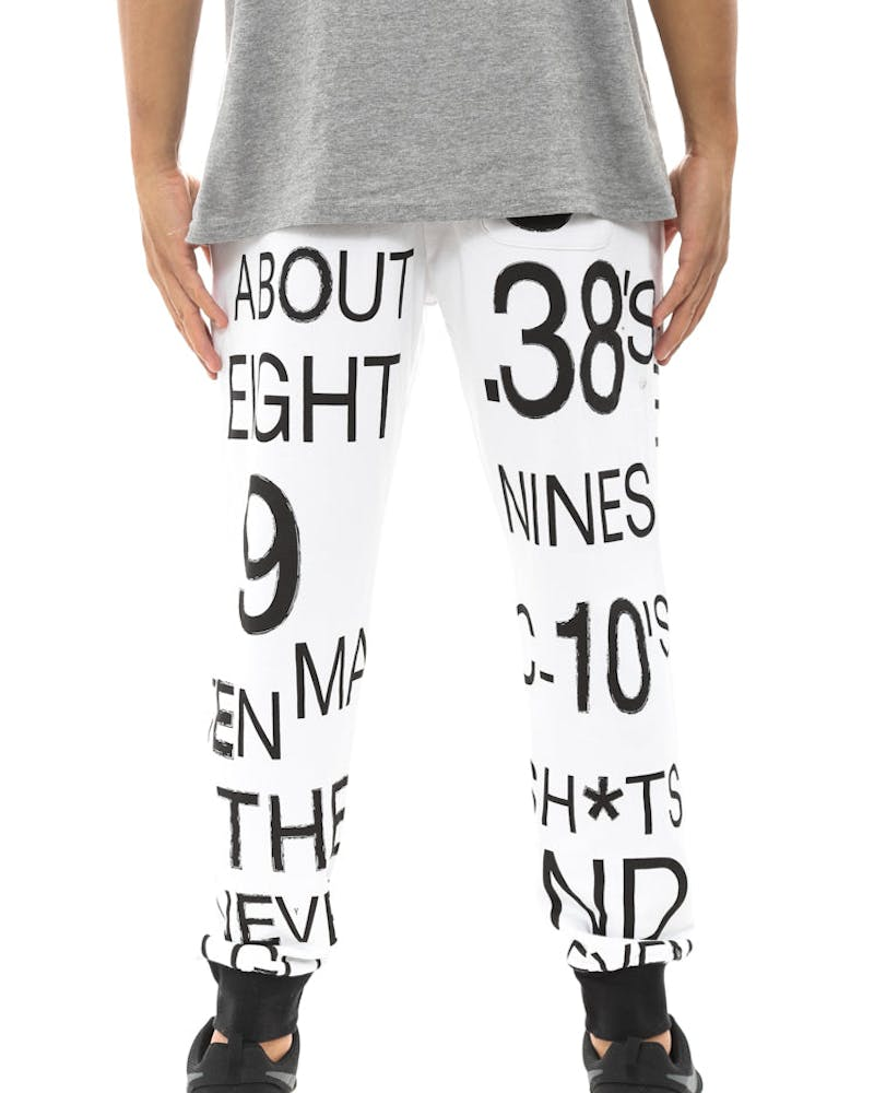 Come On Sweat Pants White