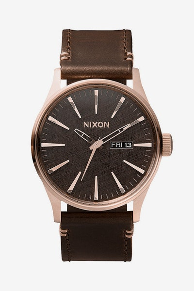 Sentry Leather Rose Gold/gunme
