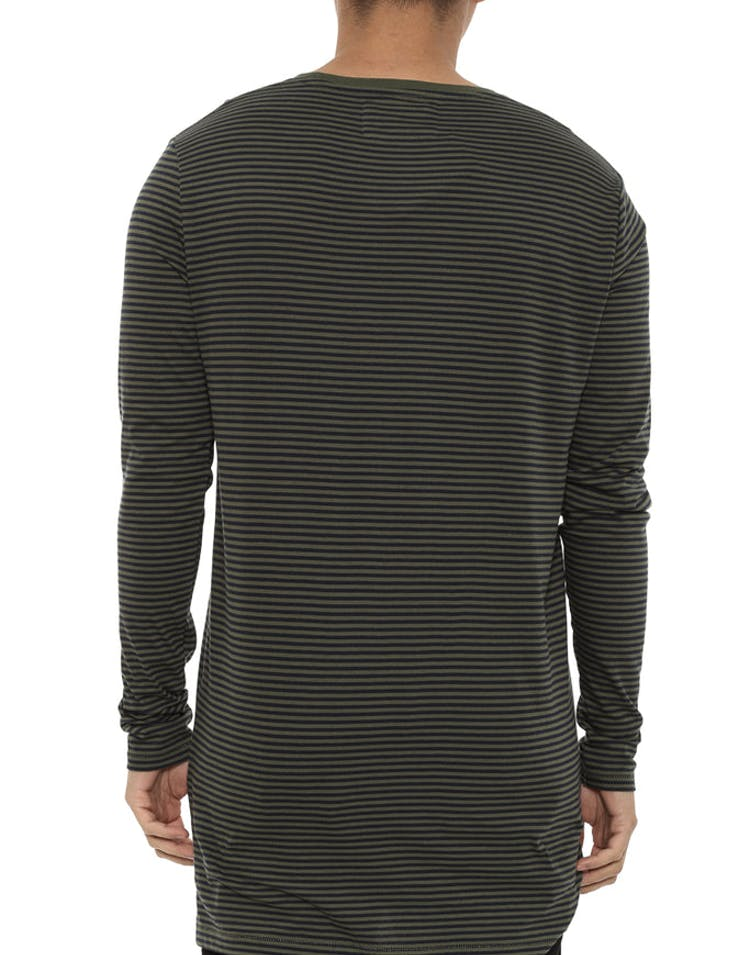 Stripe Flintlock Long Sleeve Tee Navy/olive